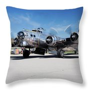 B-17 Flying Fortress, Yankee Lady Throw Pillow