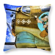 B-17 Paint  Throw Pillow