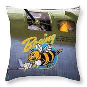B-17 Restored Throw Pillow