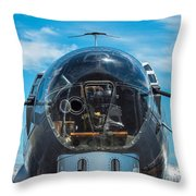 B 17 Snout Throw Pillow