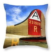 B-17 Tail Wwii Throw Pillow