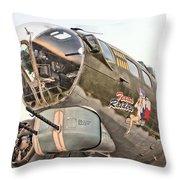 B-17 Texas Raiders Throw Pillow