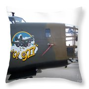 B-24 Nose Art Throw Pillow