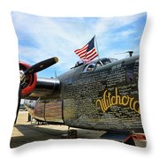 B-24j Witchcraft Wwii Throw Pillow