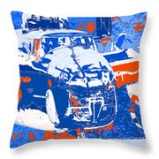 B-25 Blue Red  Throw Pillow