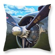 B-25 Engine Throw Pillow