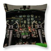 B-25 Mitchell Cockpit Throw Pillow