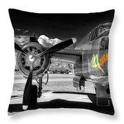 B-25 Mitchell Infrared Throw Pillow