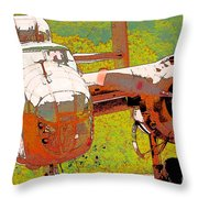 B-25 Red B Throw Pillow