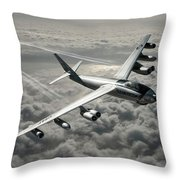 B-47e Stratojet With Contrails Throw Pillow