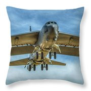 B-52 Departure Color Throw Pillow
