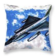 B-58 Hustler - Oil Throw Pillow