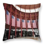 B And O Museum Roundhouse In Baltimore Maryland Throw Pillow