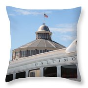 B And O Railroad Museum In Baltimore Maryland Throw Pillow