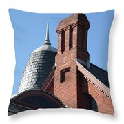B And O Railroad Station In Oakland Maryland Throw Pillow