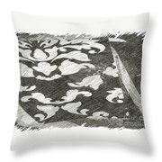 B And W Throw Pillow