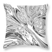 B And W Rendition Of-orion's Belt Vortex  Throw Pillow