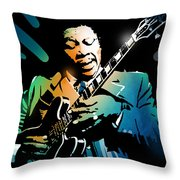 B B King Throw Pillow
