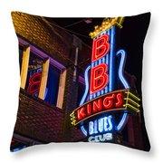 B B Kings On Beale Street Throw Pillow