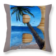 B For Brooke Throw Pillow