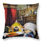 B. Harrison Cartoon, 1892 Throw Pillow