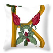 B Is For Beauty Throw Pillow
