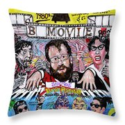 B Movie Throw Pillow