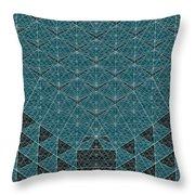 B - N W B  -  Blue Netwireblast Throw Pillow
