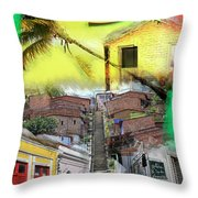 Recife Colors Throw Pillow