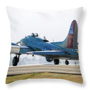 B17 Flying Fortress Cleared For Takeoff At Livermore Throw Pillow