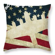 B17 Flying Fortress Vintage Throw Pillow