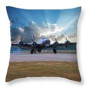 B17 Landing Throw Pillow