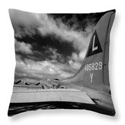 B17 Tail Throw Pillow