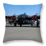 B24 Liberator Start-up At Livermore Klvk Memorial Day Throw Pillow