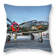 B25 Mitchell At Livermore Throw Pillow