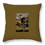 B25 Mitchell Bomber Starboard Engine 1943  Warbirds Throw Pillow