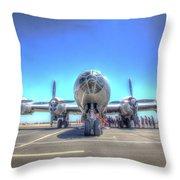 B29 Superfortress At Modesto Throw Pillow