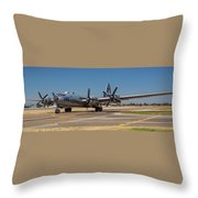 B29 Superfortress Taxiing At Modesto Throw Pillow