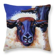 Ba Ba Black Sheep Throw Pillow