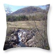 Ba Bridge, West Highlands, Scotland Throw Pillow