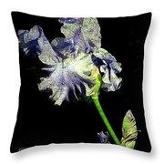 Babbling Brook Iris  Throw Pillow