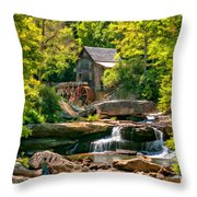 Babcock State Park Wv 2 - Paint Throw Pillow