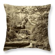 Babcock State Park Wv - Sepia Throw Pillow