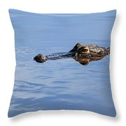 Babcock Wilderness Ranch - Alligator Lake - Waiting For Prey Throw Pillow
