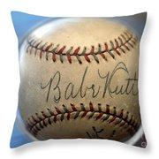 Babe Ruth Baseball. Throw Pillow