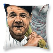 Babe Ruth Throw Pillow