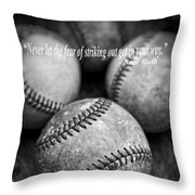 Babe Ruth Quote Throw Pillow