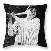 Babe Ruth Throw Pillow