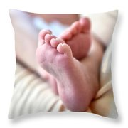 Babies Feet Throw Pillow