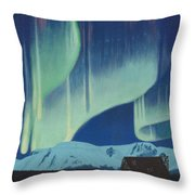 Babine Mountains Aurora Throw Pillow